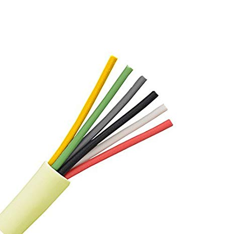 Amazon Com  50 Ft 6 Conductor Cable 24 Awg Solid Copper Wire Round