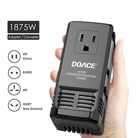 Amazon Com  Doace C7 Universal Travel Power Adapter 1875w Voltage