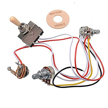 Amazon Com  Getmusic Electric Guitar Wiring Harness Prewired Kit 3