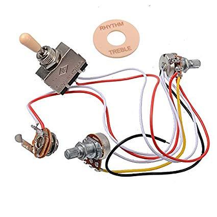 Amazon Com  Getmusic Electric Guitar Wiring Harness Prewired Kit 3