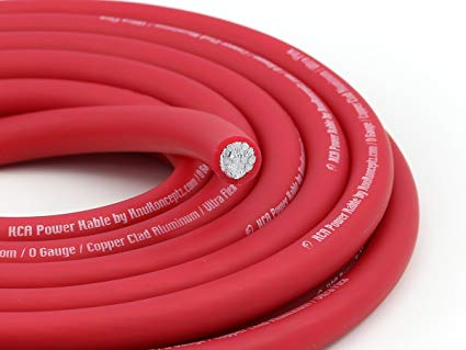 Amazon Com  Knukonceptz Kca Kable 0 Gauge Power Wire Red (sold In