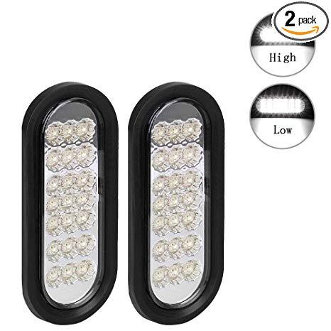 Amazon Com  Npauto 2pcs 6  Oval Trailer Lights White 21 Led Stop