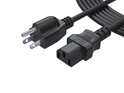 Amazon Com  Pwr Ul Listed 12 Ft 3 Prong Cable Power Cord