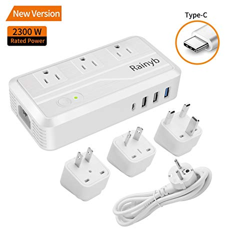 Amazon Com  Universal Travel Adapter,rainyb 2300w Power Converter