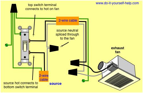 Bathroom Switch Wiring Diagram