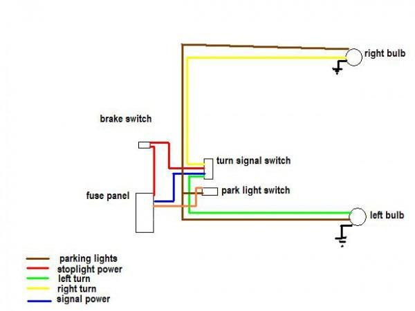 Brake   Running Light   Turn Signal Wiring