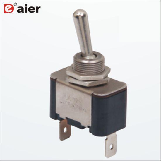 China Metal On Off Locking 2 Way 15a Pcb Toggle Switch