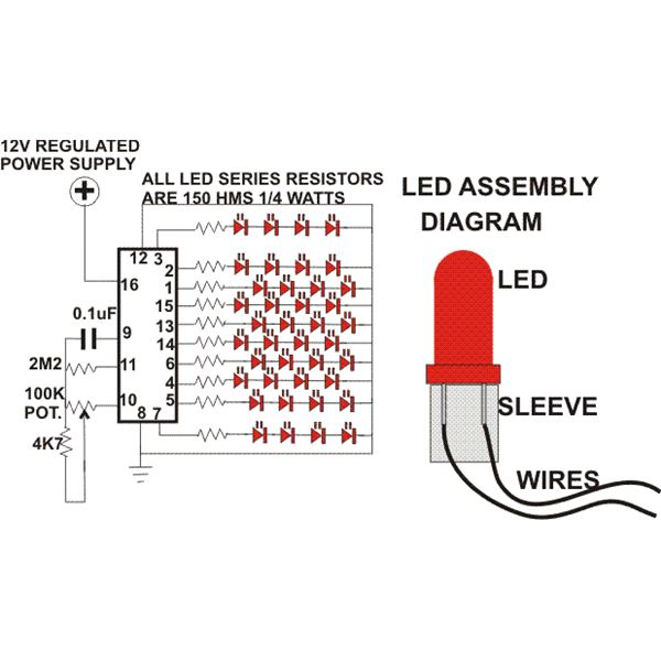 Christmas Lights Display Circuit Diagram