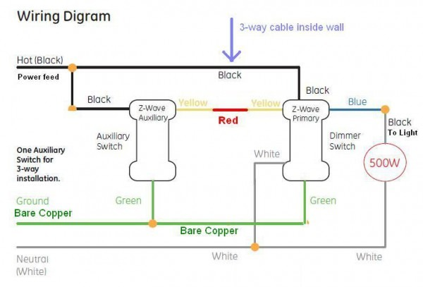 Cooper 4 Way Switch Wiring Diagram