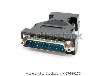 D Sub Plugandsocket Blue Adapter Computer Monitor Stock Photo