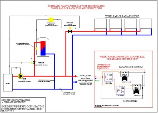 Diagram Shows Underfloor Heating And Radiators Supplied From A