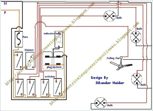 Domestic Switchboard Wiring Diagram