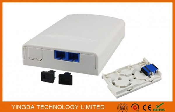 Duplex Sc Apc Adapter Ftth Socket Panel Wall Outlet Box Plastic