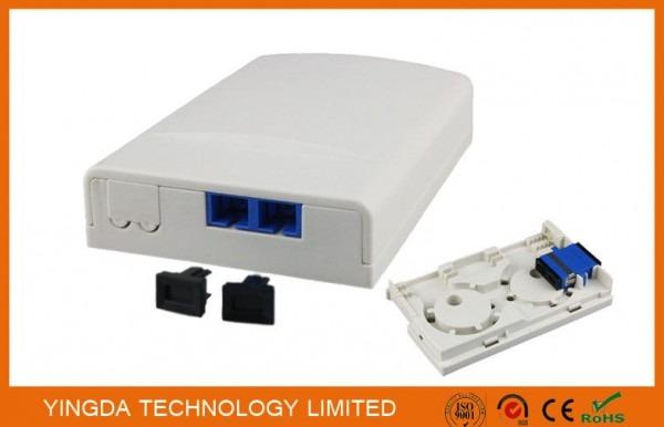 Duplex Sc Apc Adapter Ftth Socket Panel Wall Outlet Box Plastic