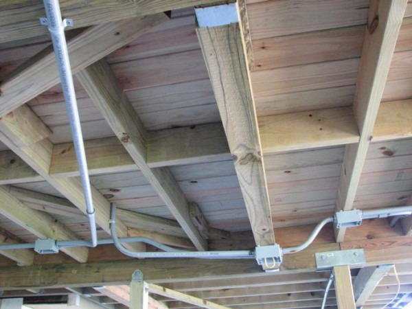 Electrical Wiring Under Deck