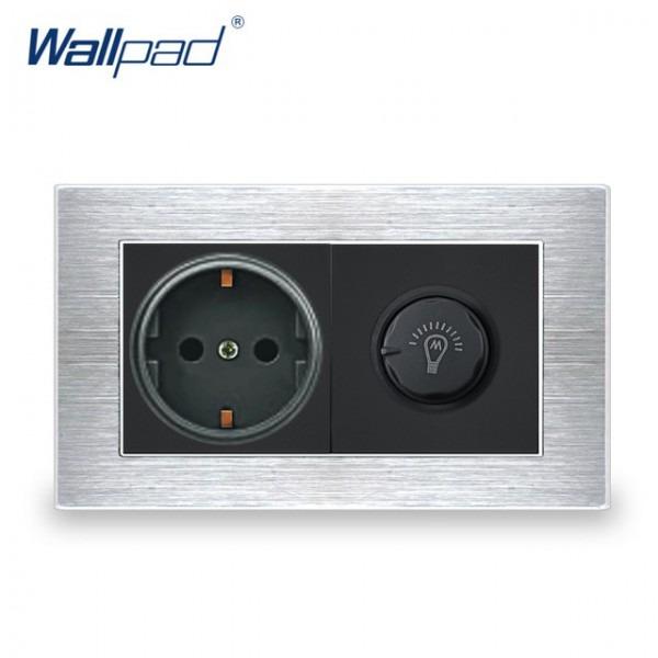 Eu German Socket With Dimmer Switch Wallpad Luxury Wall Light