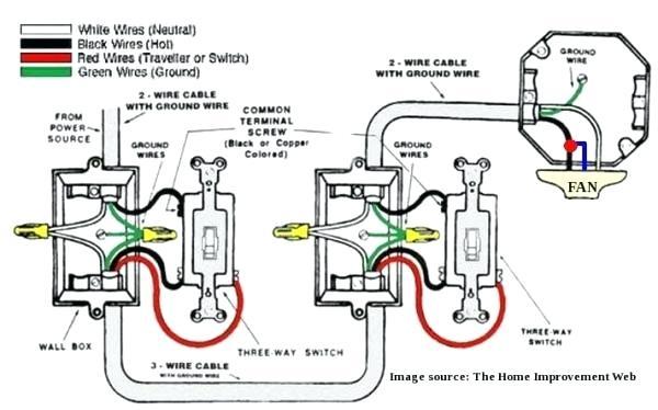 Fan Light 3 Way Switch Wiring Diagram