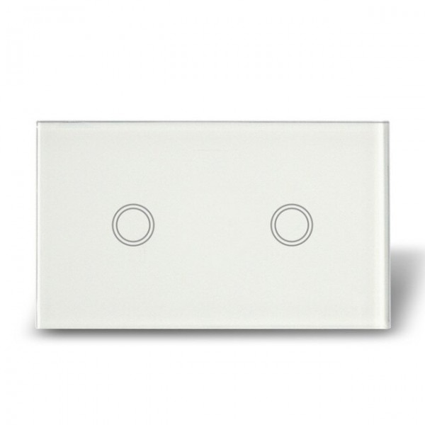 Free Shipping, Ac 110v 240v, Double Gang Touch Wall Switches