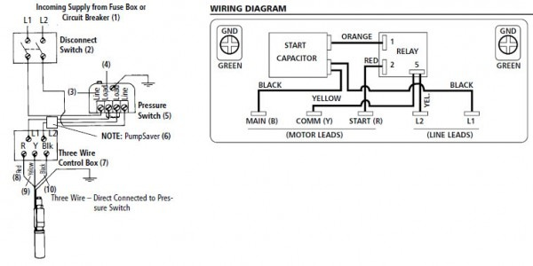 Submersible Well Pump Control Box Wiring Diagram