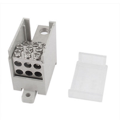 Gray 200a One Inlet Six Outlet Wire Terminal Junction Box