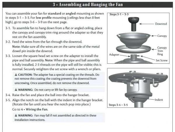 Hampton Bay Ceiling Light Instructions