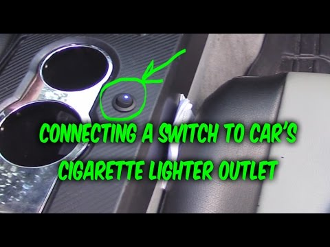 How To Install & Wire 3 Prong Switch To Car 12v Power Outlet