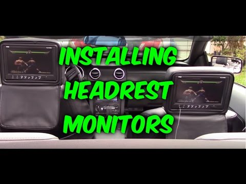 How To Install & Wiring Headrest Monitors To Dvd Player   Game