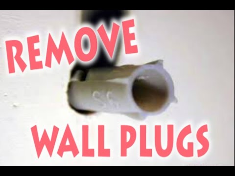 How To Remove Wall Plug, (raw Plug,screw Anchor, Dowel) From The