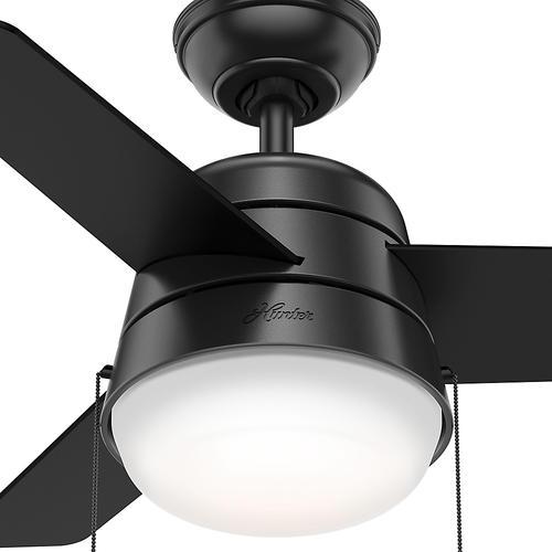 Hunter® Fan Aker 36  Led Indoor Matte Black Ceiling Fan At Menards®