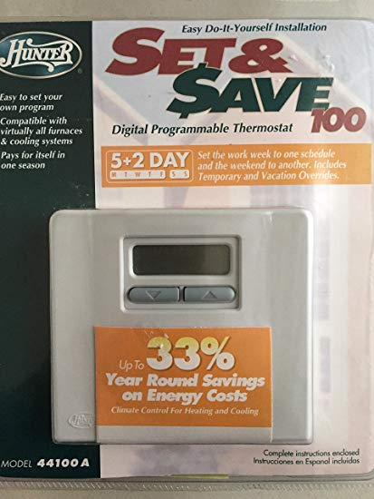 Hunter 5+2 Day Digital Programmable Thermostat