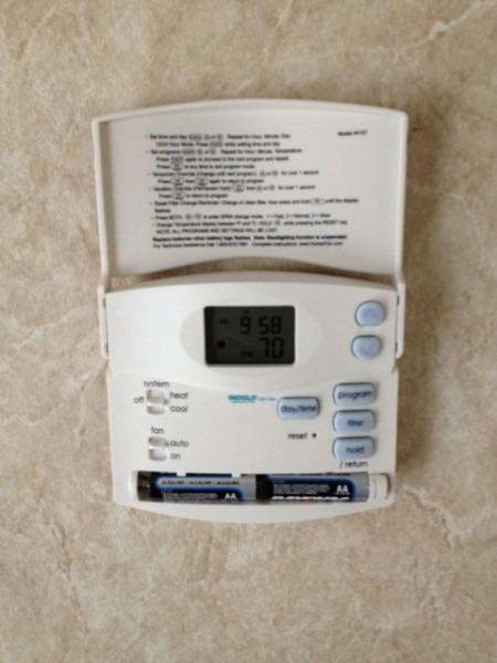 Hunter Thermostat Install