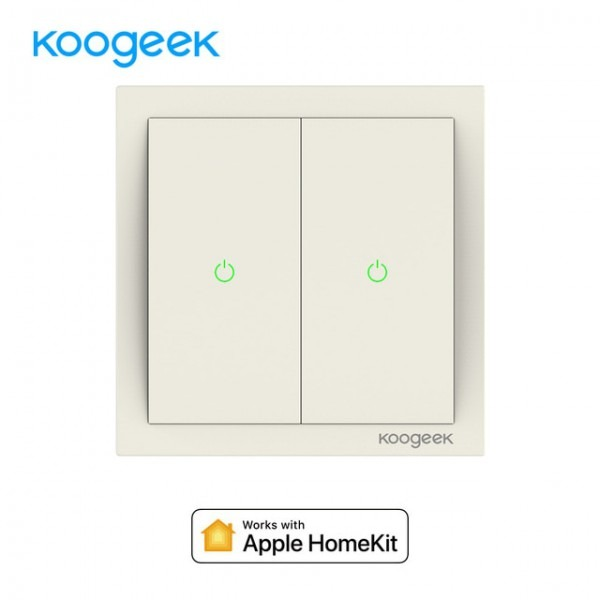 Koogeek Two Gang Wifi Home Smart Light Switch 220~240v For Apple