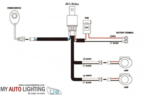 Led Wiring Harness Kit With On Off Switch Relay (1 Output)