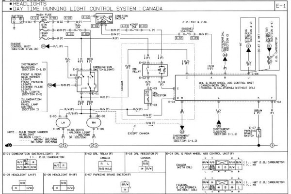 Mazda B Wiring on 1987 Mazda B2200 Wiring Diagram