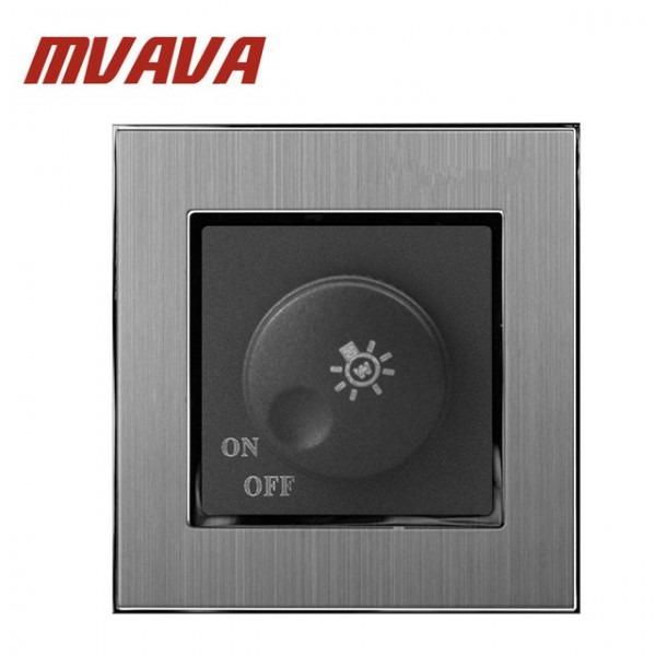 Mvava Dimmer Switch Luxury Silver Satin Metal Brushed Metal Uk Eu
