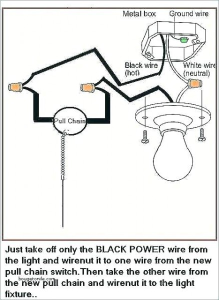 Pull Chain Switch Wiring