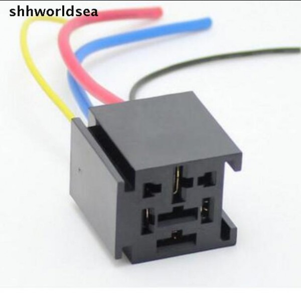 Shhworldsea 100pcs 4pin 80a Car Relay Holder Big General