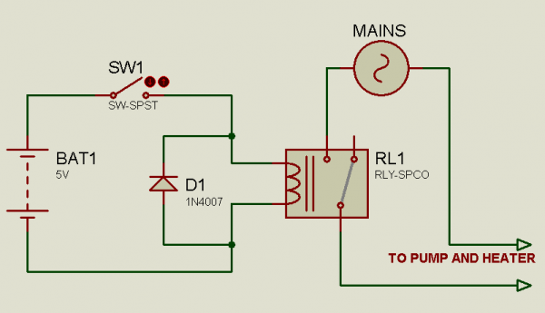 Solved] Relay Controlled Light Switch