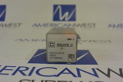 Square D 8501kp12p14v14 Ser E Relay Dpdt 24vac With Pilot Light