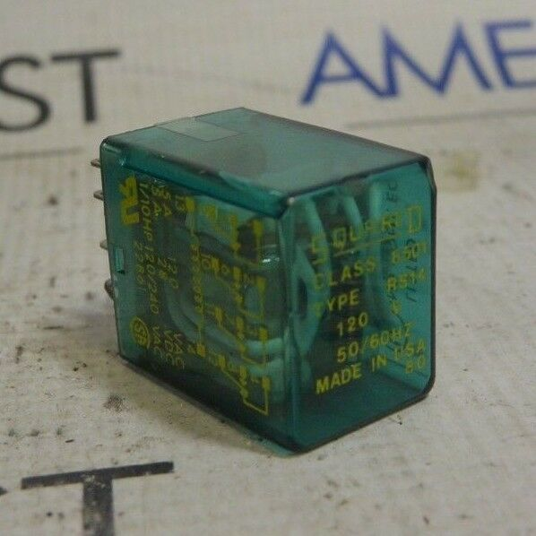 Square D Class 8501 Type Rs14 120v 50 60hz Ice Cube Relay
