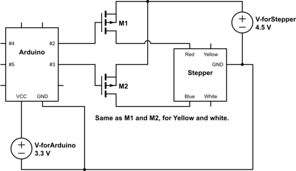 Step Motor Wiring Diagram