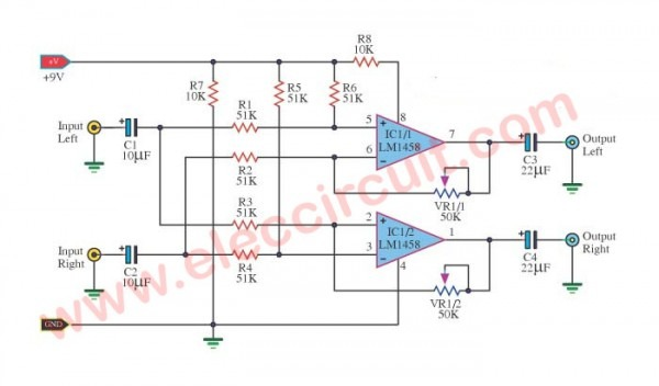 Surround Sound System Circuit Diagram