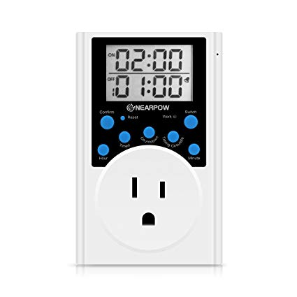Timer Outlet, Nearpow Multifunctional Infinite Cycle Programmable