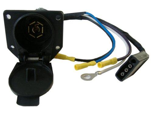 Trailer Adapter Plug, Convert 4 Way Flat To 7 Way Rv Trailer