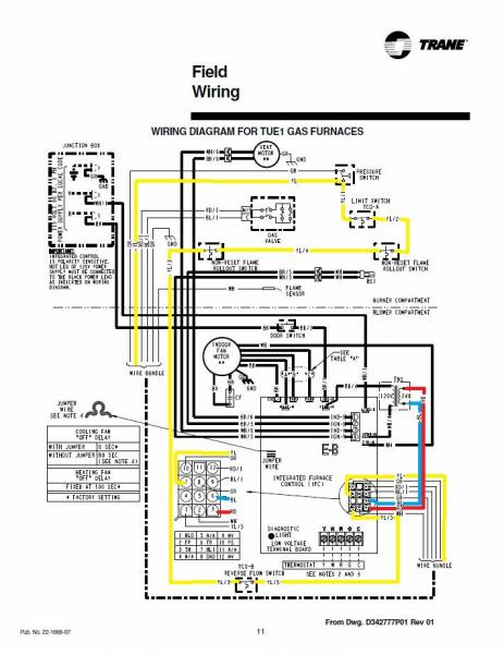 Trane Furnace Thermostat Wiring Diagram