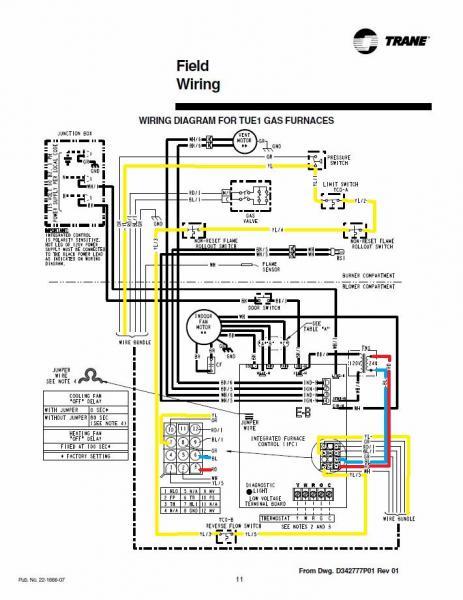 Awe Inspiring Trane Furnace Wiring Diagram Data Schema Wiring Digital Resources Hetepmognl