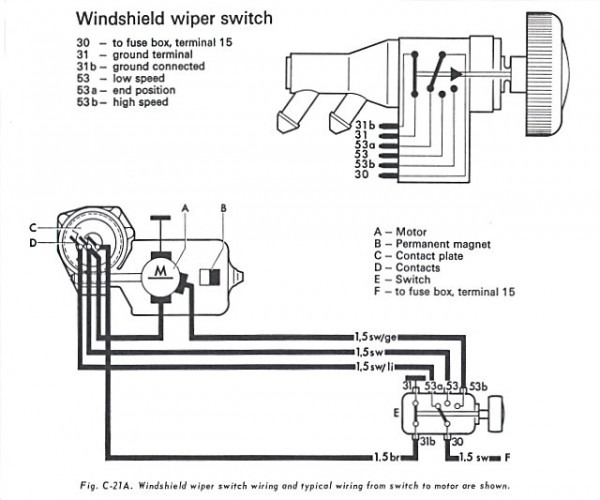 Vw Beetle Wiper Motor Wiring Diagram