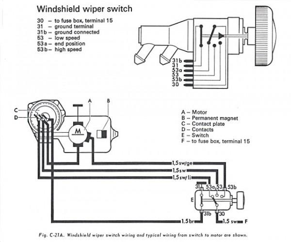 vw bug wiper motor wiring    vw    beetle    wiper       motor       wiring    diagram     vw    beetle    wiper       motor       wiring    diagram