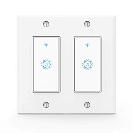 Wifi Smart Light Switch, Work With Alexa, Google Home, Wireless