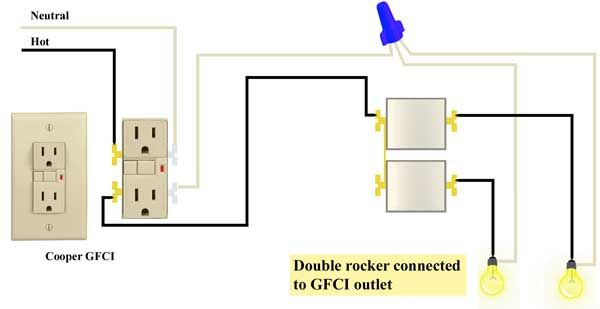 Wire Double Rocker Switch To Gfci